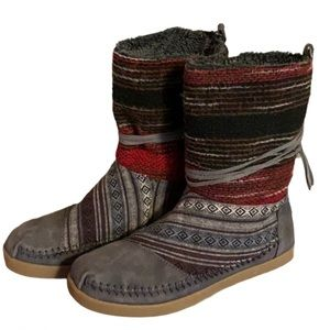 """Toms """"Nepal"""" Suede Boots - Women's Size 6.5"""